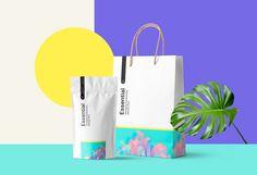 Pouch Pack and Carton Bag Mockup | MockupWorld