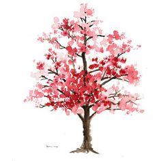 small watercolor cherry blossom tree tattoo - Google Search