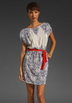 Akiko Mini Dress with Wrap Tie in French Provincial/Lipstick  http://www.revolveclothing.com/DisplayProduct.jsp?product=AKIK-WD128=