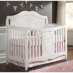 Storkcraft Baby Crib Nursery Furniture Princess 4 in 1 Convertible White & Baby Crib Tent Safety Net Pop Up Canopy Cover - Never Recalled ...