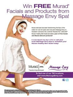 Be the Millionth ME Murad Guest & Win FREE Murad Facials for a year! Find out more: http://www.massageenvy.com/facial-contest.aspx