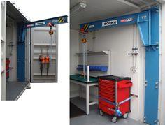 Backdoor crane: Container Oficina: Funcional e Prático
