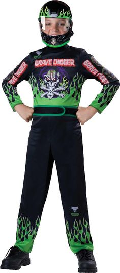 Monster Jam - Grave Digger Child Costume from Buycostumes.com