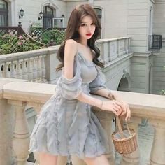 Pin by Shouto todoroki on Fashion outfits in 2020 Korean Girl Fashion, Ulzzang Fashion, Kpop Fashion, Ulzzang Girl, Cute Fashion, Asian Fashion, Pretty Korean Girls, Beautiful Asian Girls, Dress Outfits