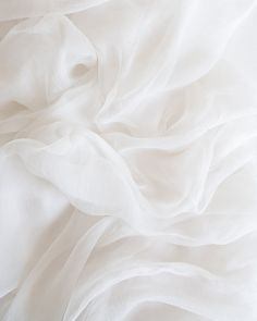 Tono + co Gossamer Silk Textile in Cotton. Perfect for styling, tabletop design, detail work, or as a table runner. White Fabric Texture, White Fabrics, Fabric Textures, White Wallpaper, Iphone Wallpaper, Aesthetic Backgrounds, Aesthetic Wallpapers, Table Top Design, Iphone Design