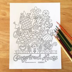 "One of the coloring pages I made for the Slugs & Bugs Christmas album. You can download all the coloring pages for free using the coupon code ""ColorMe"" at www.slugsandbugs.com. #coloring #coloringpage #christmas #slugsandbugs #prismacolorpencils"