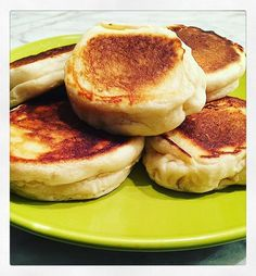 Why did I make English muffins this morning? Mainly because I wanted a breakfast sandwich, had no bread, and committed to not putting on pants until this evening (maybe) so going to the bodega was not an option.