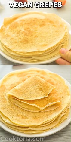 Vegan Crepes - Learn how to make Vegan Crêpes with this simple, fool-proof recipe! These crêpes are very tasty, - All Recipes Chili, Ark Recipes, Beef Recipes, Vegan Recipes, Cooking Recipes, Hamburger Recipes, Flour Recipes, Turkey Recipes, Chicken Recipes