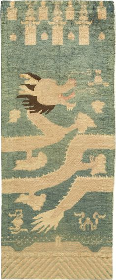Chinese Fragment Rug makes a strong design statement. The rug in living room will look splendid.