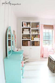 Ava's Room Reveal   girl's room before & after   perfectly imperfect