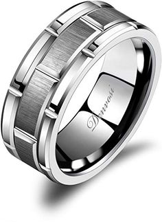 Silver Tungsten Carbide Wolf Skull and Arrows Ring 8mm Wedding Band and Anniversary Ring Fit for Men and Women Size 8.5