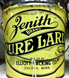 Nice one Terpstra Zenith pure lard from Allan Peters' collection of labels and badges. Vintage Tins, Vintage Labels, Vintage Posters, Vintage Pantry, Vintage Typography, Typography Letters, Lettering Design, Branding Design, Packaging Design