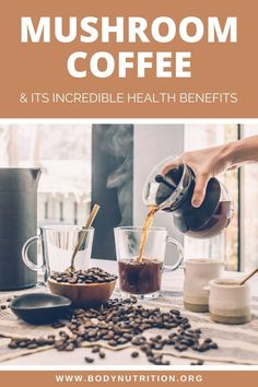 All about mushroom coffee and why you need to drink this delicious superfood. This post will answer all your questions about drinking mushroom coffee and the health benefits you get from every single sip. Plus the best mushroom coffee products! #mushroomcoffee #superfood #health Coffee Making Machine, Sugar Consumption, Green Coffee Bean Extract, Cheap Coffee, Superfood Powder, Coffee Health Benefits, Mindful Eating, Blended Coffee, Best Coffee