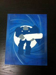 Paper Marine Stencil