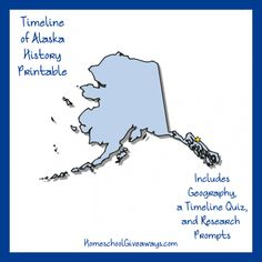 FREE Alaska State History Printable. Alaska is a land of extremes. There are places where the temperature goes as low as 80°F below zero and places where the temperature reaches 100°F. At Point Barrow, there is a three-month period during the year when the sun never sets. See what else you can learn about Alaska history with this free 7-page printable as you create a map of the state, organize events chronologically, and more!
