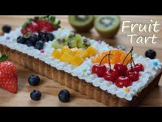 Kupa mérés / A gyönyörű gyümölcsös torta recept / ASMR / Mandulakrém / Fruit Tart - YouTube Party Desserts, No Bake Desserts, Just Like Candy, Tart Recipes, Fun Recipes, Almond Cream, Beautiful Fruits, Fruit Tart, Asmr