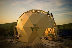 Yurt Home, Model Supplies, Architectural Engineering, Crystals In The Home, Jungle Gym, Dome House, Earth Homes, Geodesic Dome, Round House