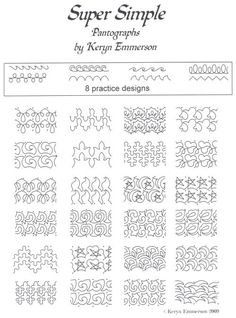Pantograph patterns and continuous line block patterns