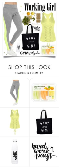 """""""The day at the Gym"""" by ainzme ❤ liked on Polyvore featuring WearAll, Ellie Ellie and Not Vodka"""