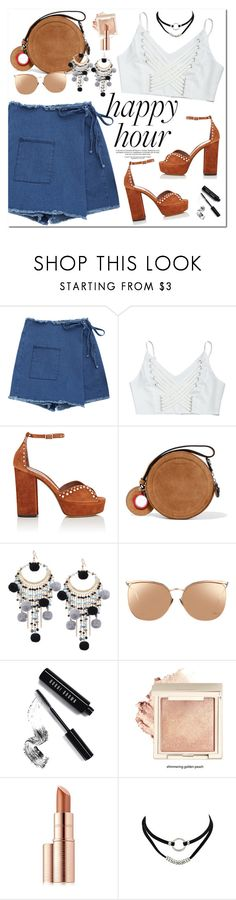 """""""Happy Hour"""" by oshint ❤ liked on Polyvore featuring Tabitha Simmons, Carven, Linda Farrow, Bobbi Brown Cosmetics and Estée Lauder"""