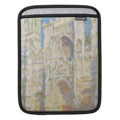 Rouen Cathedral West Facade Sunlight by Monet Sleeve For iPads