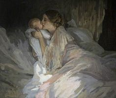 Sir John Lavery Irish painter best known for his portraits and wartime depictions. Oil on canvas Ulster Museum, Ireland Illustrations, Illustration Art, Irish Painters, Francois Xavier, Glasgow Museum, Charles Perrault, The Embrace, Irish Art, Art Uk
