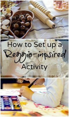 Setting up a Reggio-inspired Activity