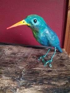 A little papier mache bird   Paper Mache   Pinterest
