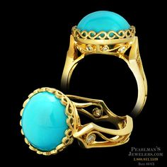 Cathy Carmendy 20kt y.g. Persian Turquoise ring