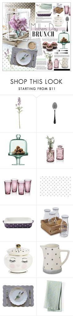 """""""Mother's Day Brunch"""" by szaboesz ❤ liked on Polyvore featuring interior, interiors, interior design, home, home decor, interior decorating, LSA International, Maxwell & Williams, Sur La Table and Pom Pom at Home"""