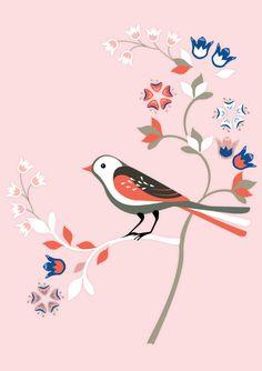 CAROLINA MELIS Bird Stencil, Decoupage Ideas, Illustration Art, Illustrations, Creative Embroidery, Bird Art, Animal Drawings, Textile Design, Artsy Fartsy