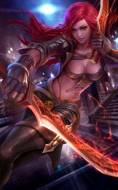 League of legends - Katarina fanart by derrickSong