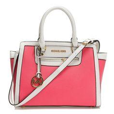 Fashion Michael Kors Selma Top-Zip Large Pink Satchels Online!