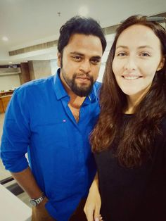 Actor Danish Khan with dear friend and Russian Model Jenny in Hyderabad
