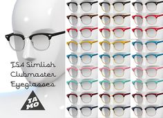 Mod The Sims - Simlish Clubmaster Glasses for TS4