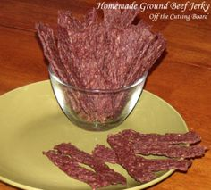 Homemade Ground Beef Jerky Recipe on Yummly Jerky Seasoning Recipe, Venison Jerky Recipe, Pork Jerky, Venison Recipes, Smoker Recipes, Moose Jerky Recipe, Sausage Recipes, Venison Meals, Game Recipes