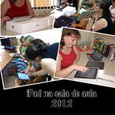 Trabalhando no projeto iPad na sala de aula... ;-)