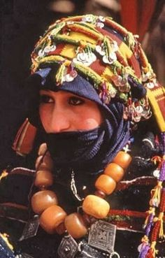 Africa | Berber from Morocco. The Berbers are indigenous people of Northern Africa, and are distributed from the Atlantic ocean to Egypt.  | Photographer ?