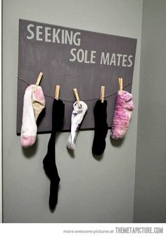 For the laundry room, cute!
