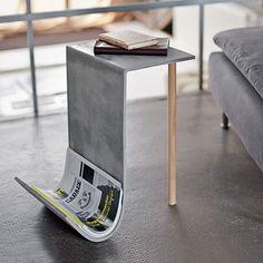 Concrete Side Table by Betonfusion Concrete Table, Concrete Furniture, Concrete Wood, Concrete Countertops, Polished Concrete, Concrete Siding, Beton Design, Cement Design, Concrete Crafts