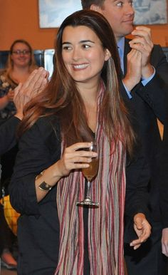 Cote de Pablo attends CBS NCIS celebration of their 200th episode on January 3, 2012 in Valencia, California.