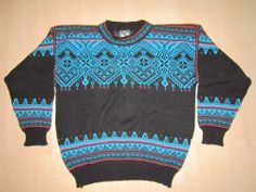 Men's Dale Of Norway 100% Pure New Wool Design Crewneck Sweater Size M