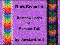 New Dart Bracelet - Rainbow Loom or Monster Tail - YouTube