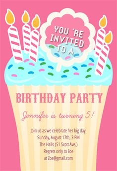 Very Special Day  Free Printable Birthday Invitation Template