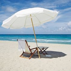Mel: I like the beach umbrella over the Mary Poppins style umbrella. Table w Umbrella, sandy beach, Ice Tea, Flip flops! Playa Beach, Beach Bum, Beach Relax, Cap Ferret, Parasols, Patio Umbrellas, Beach Umbrella, White Umbrella, Umbrella Chair