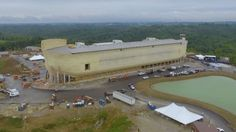 The ark is 510 feet long, based off the dimensions mentioned in the Bible.
