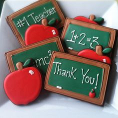 School Cookies - For all your cake decorating supplies, please visit craftcomapny.co.uk