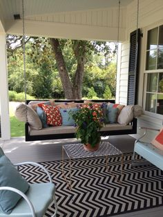 Outdoor rugs and pillows instantly add personality, color, and style to your outdoor space. You could call this the easiest DIY you'll do all summer!