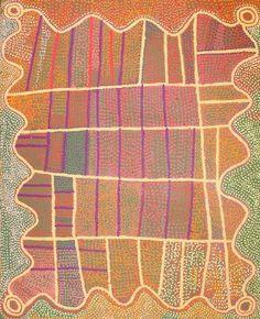 Shorty Jangala Robertson Ngapa Jukurrpa (Water Dreaming) 2008  acrylic on canvas  152 x 122 cm