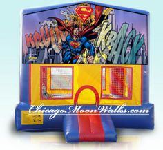 Superman Standard bounce house set up area required 20x20